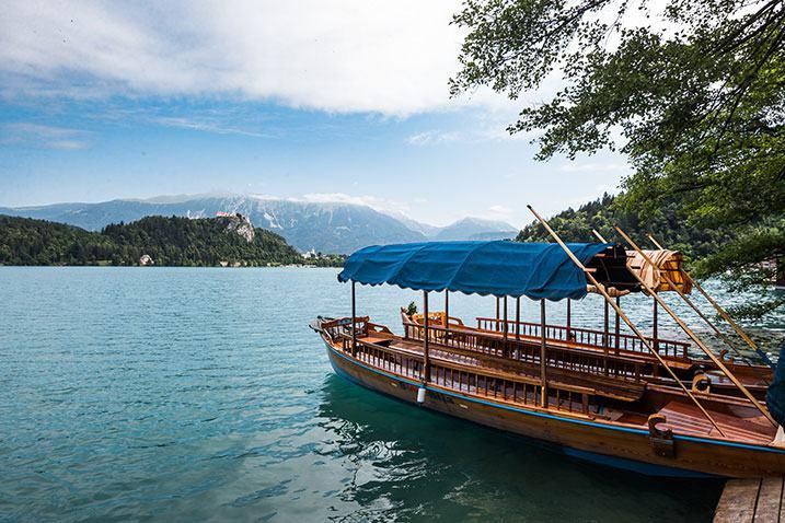 bateau typique lac Slovénie