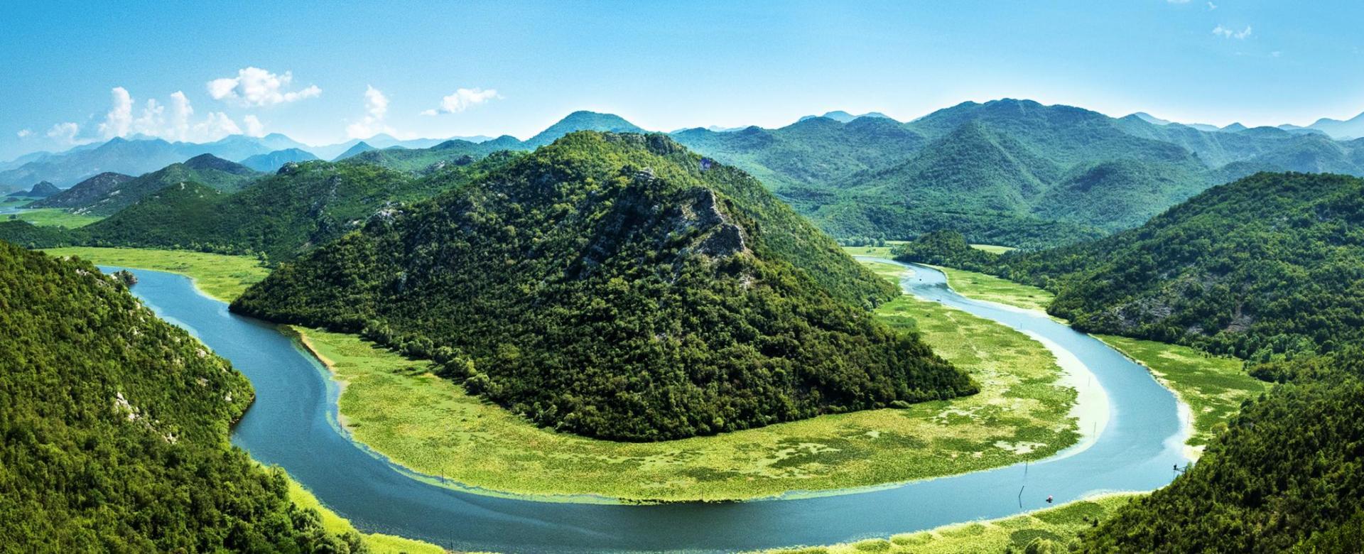 lac montenegro vue nature foret