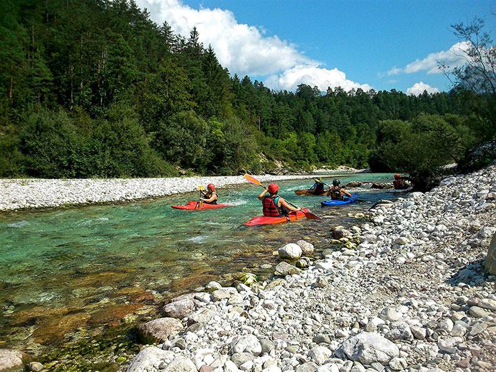 kayak Slovénie rivière foret