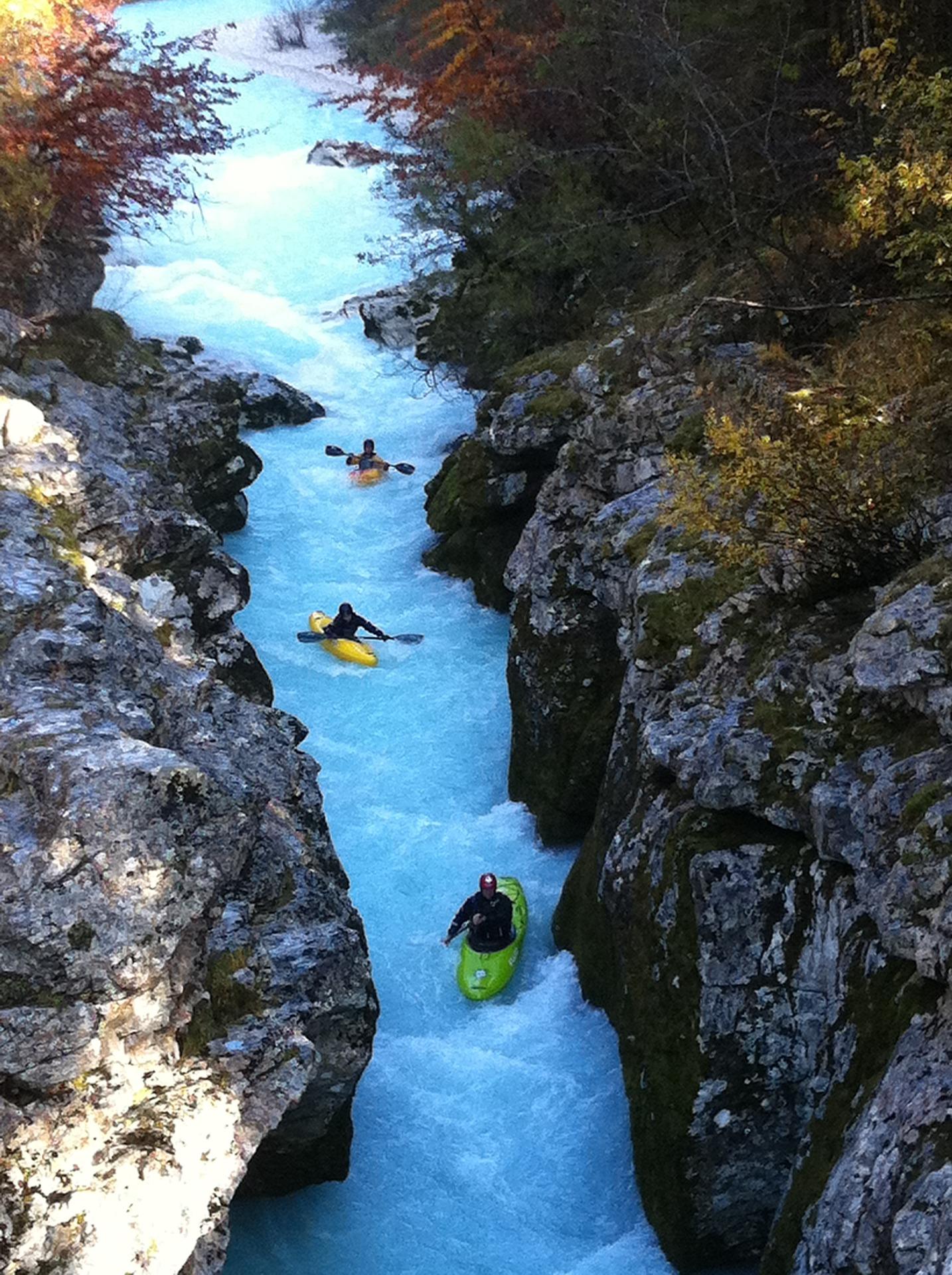 rafting Slovénie cascade